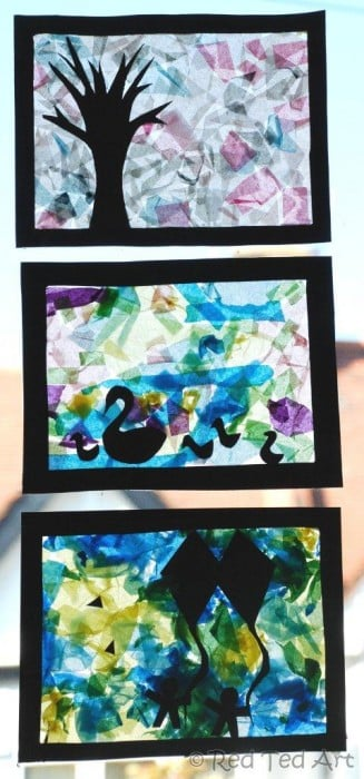 tissue paper collages (2)