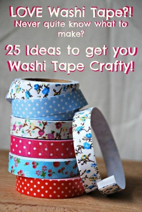 Washi Tape Crafts - I LOVE Washi Tape and am always looking out for new and fabulous Washi Tape Crafts & Ideas, here are some fantastic ones!