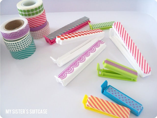 Washi Tape bag clips