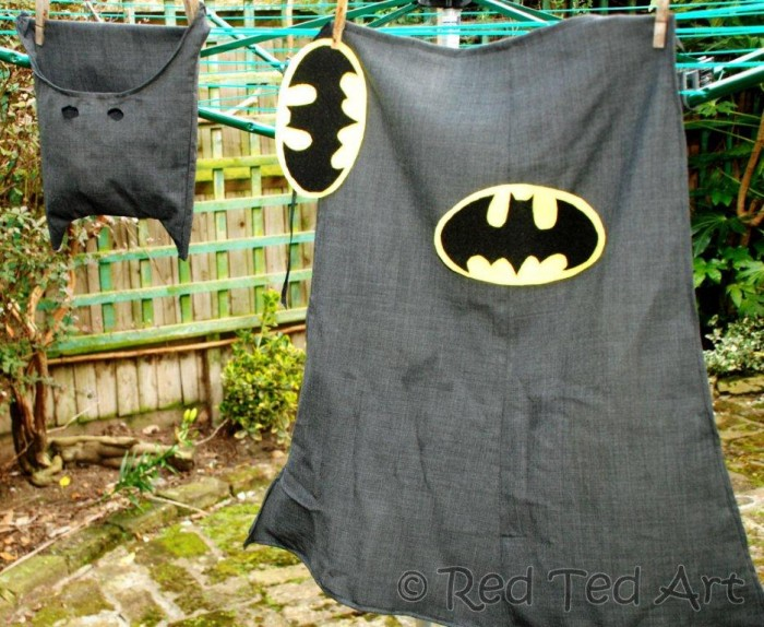 How to make an upcycled batman costume red ted arts blog batman costume solutioingenieria Image collections