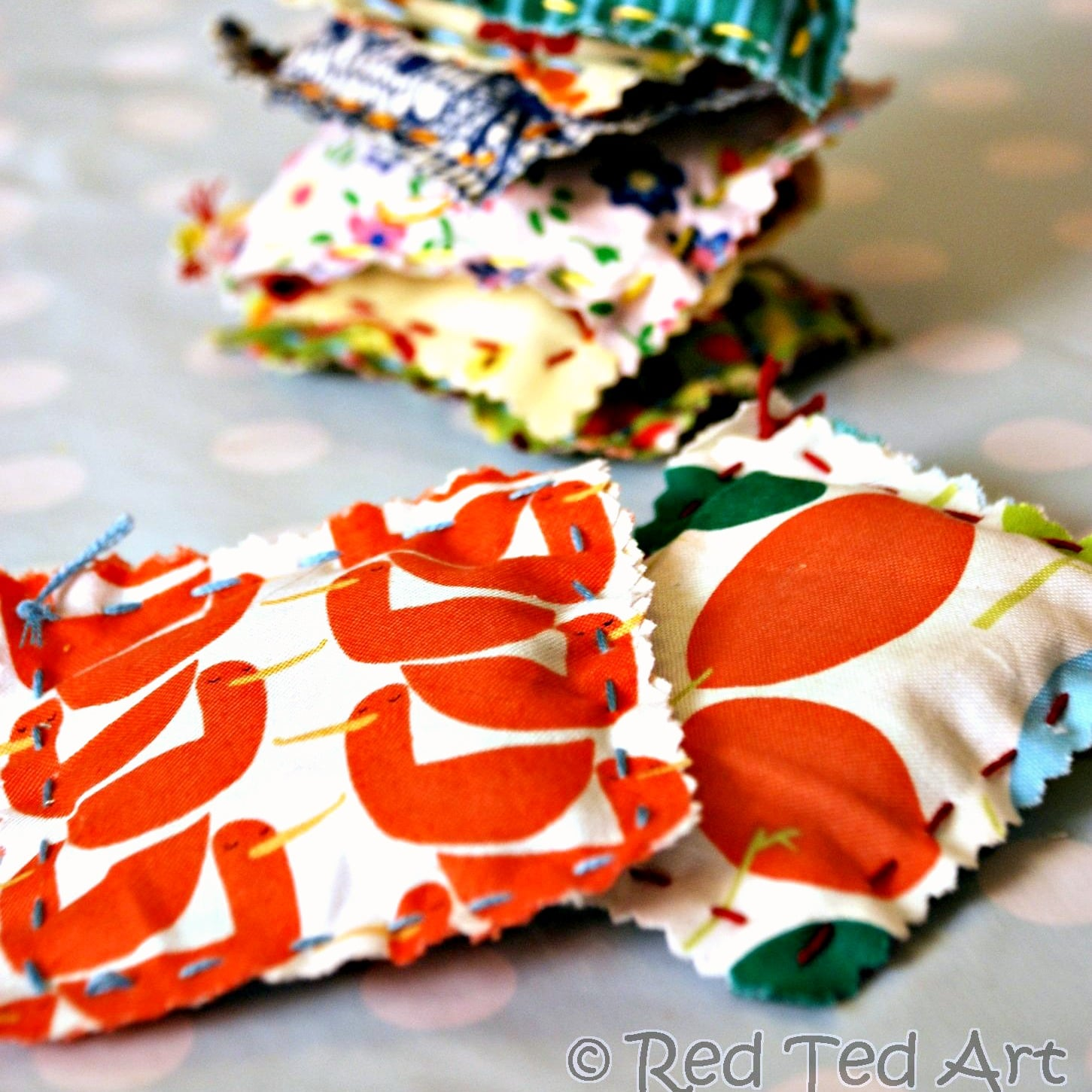 Kids Crafts: Sewing with Kids Easy Lavender Bags