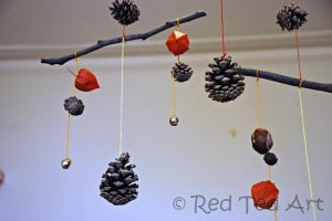 pinecone stick craft