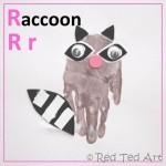Handprint Alphabet – R for… Raccoon!