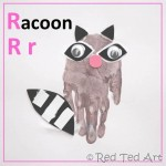 Handprint Alphabet – R for… Raccoon!