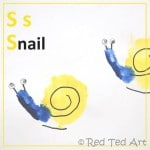 Handprint Alphabet – S for… Snail
