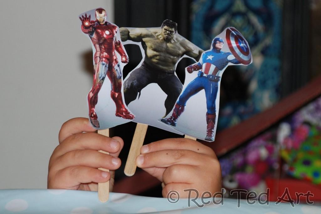 superhero puppets