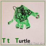 Handprint Alphabet – T for….Turtle