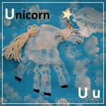 Handprint Alphabet – U for… Unicorn