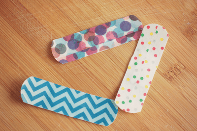 washi tape band aids