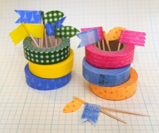 Washi tape toothpicks