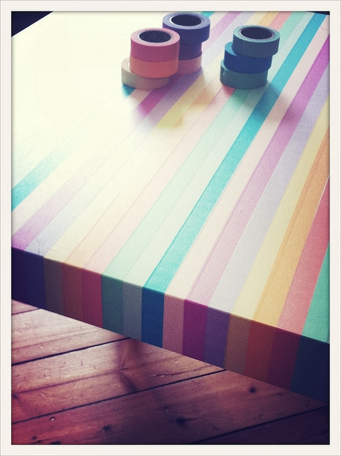 Washi  tape table