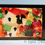 Kids Crafts: Autumn Colours – Stained Glass Windows
