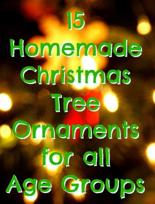 15 Homemade Christmas Tree Ornaments