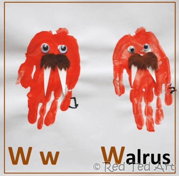 Handprint Alphabet – W for… Walrus