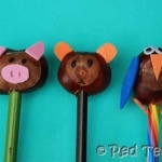 Kids Get Crafty: Chestnut Crafts (Pencil Toppers)