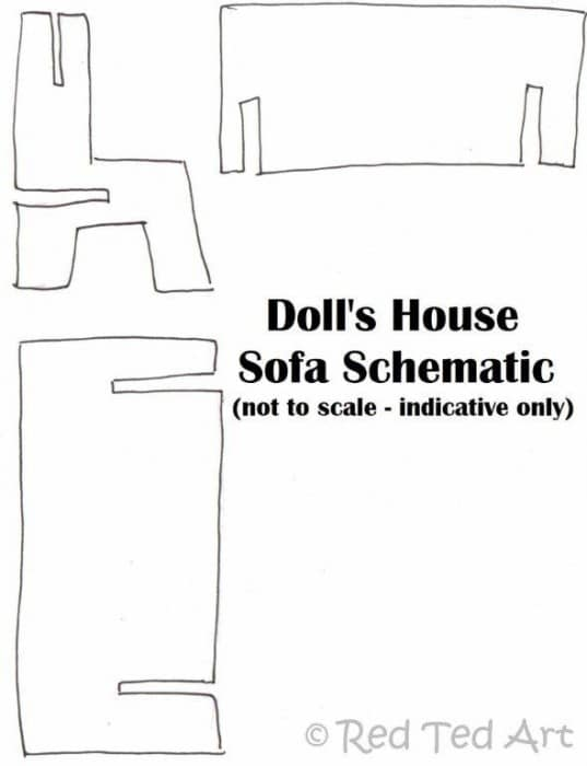 dolls house sofa diy