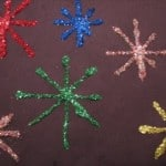 new year's eve crafts - firework art