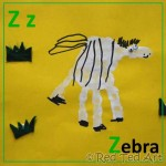 Handprint Alphabet – Z for… Zebra