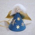 Christmas Tree ornament - how to make a paper angel ornament