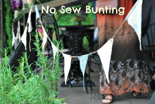 no sew bunting