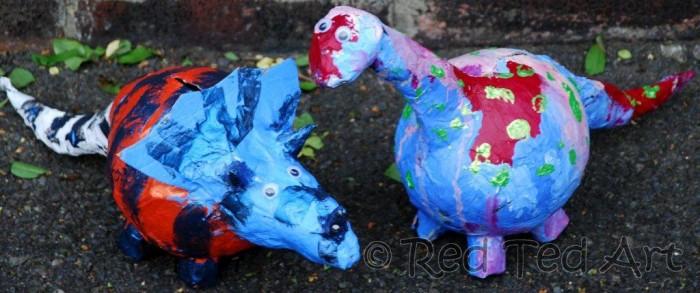 paper mache dinosaurs