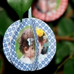 Easy Paper Photo Ornaments – Paper Baubles