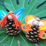 Kids Crafts: Pinecone Crafts – Fairies