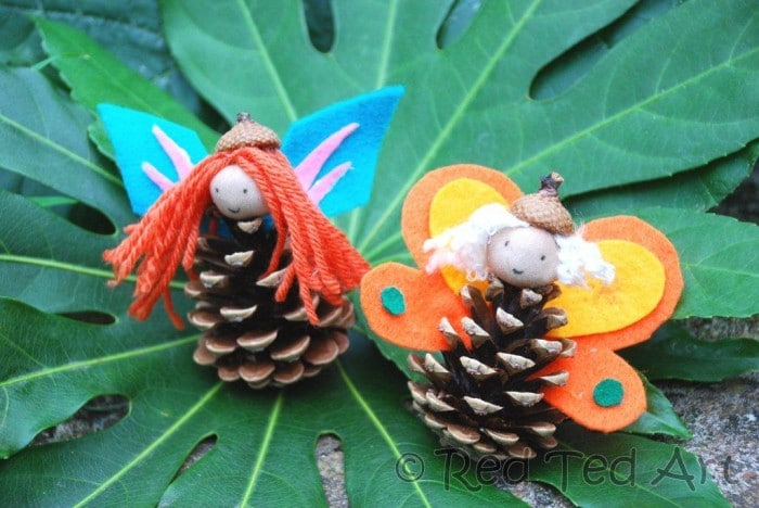 Pinecone Crafts For Kids Delightful Fairies