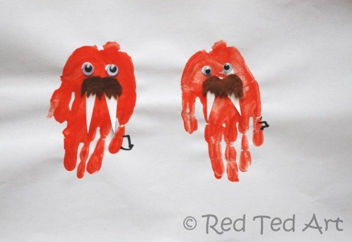 preschool handprint crafts