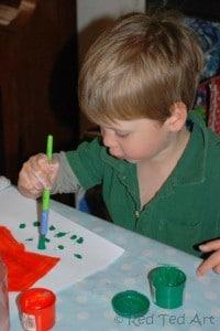 preschooler handprints