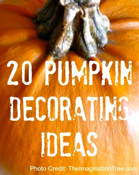 20 Pumpkin Decorating Ideas