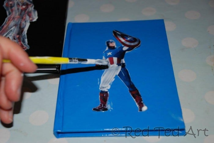 superhero crafts notebook