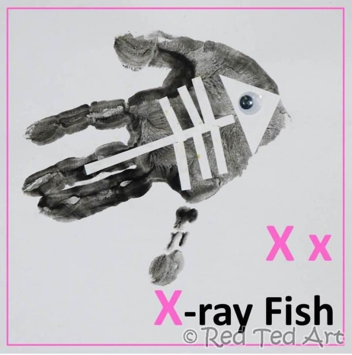 xray fish alphabet craft