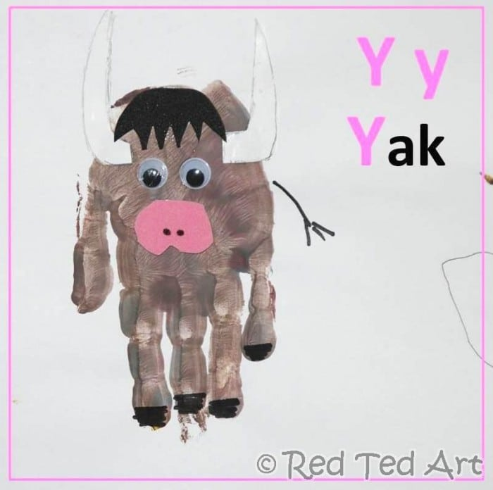 Handprint Alphabet – Y for… Yak