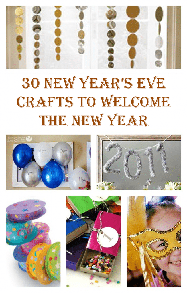 Wonderful New Year Craft Ideas For Kids Part - 2: New Yearu0027s Eve Crafts Ideas For All The Family!
