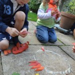 Explorig Andy Goldsworthy with kids (2)