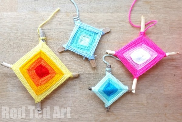 How to Make a God's Eye Nature Weaving Craft
