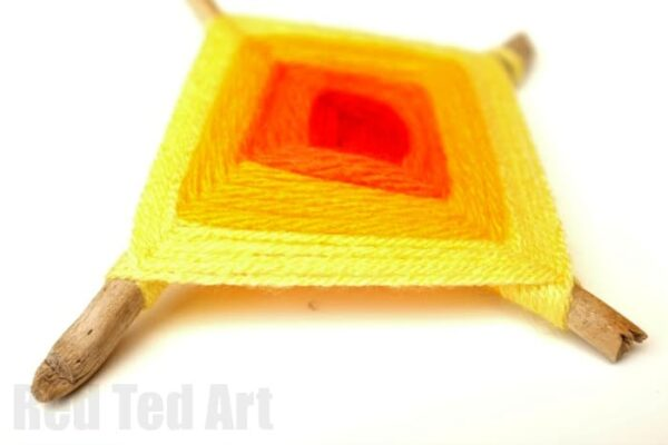 How to Make a God's Eye Weaving Craft