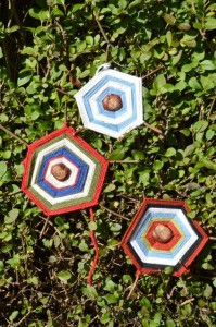 Tactile Chestnuts Autumn Craft - Chestnut Spiderwebs