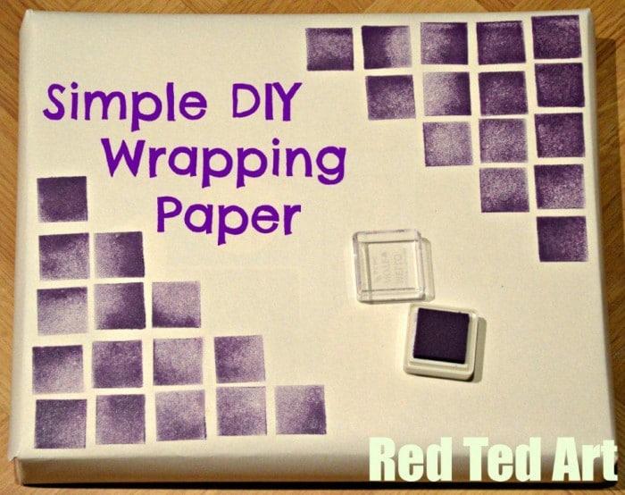 Quick DIY Wrapping Paper 2