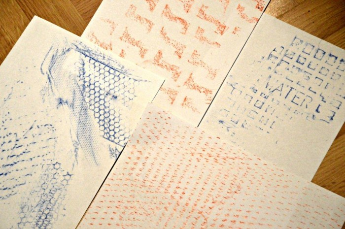 art with kids rubbings