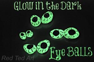 glow in the dark eye balls
