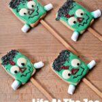 Frankenstein Halloween Cookie Pops