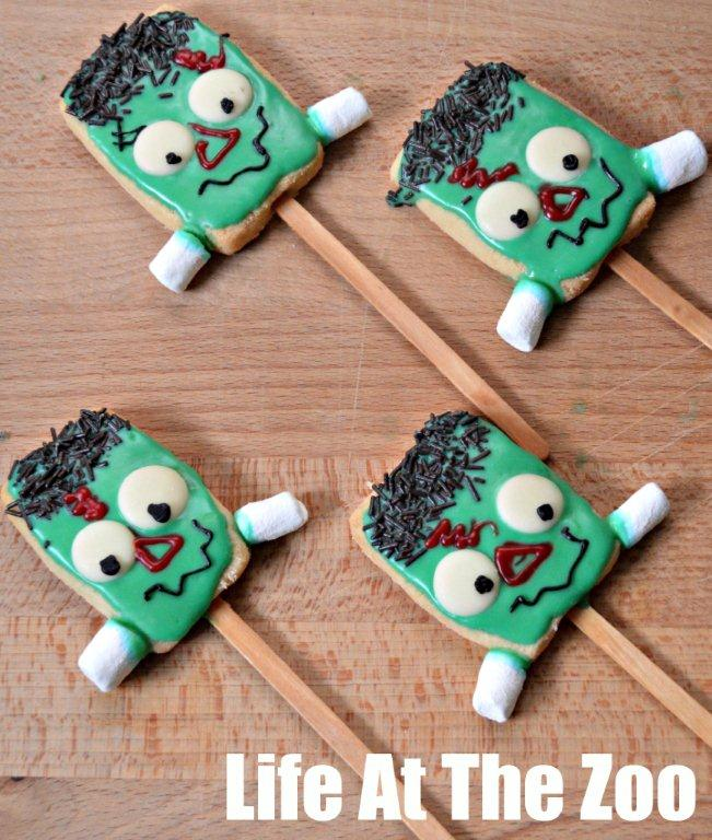 Frankenstein Halloween Cookie Pops