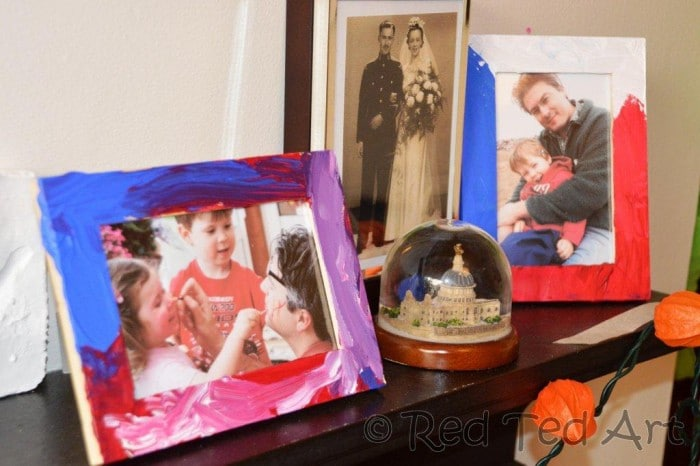 Sweet photo frames, ideal as presents kids can make this Christmas or next Father's Day