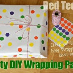 DIY Wrapping Paper – Dots with Office Stickers