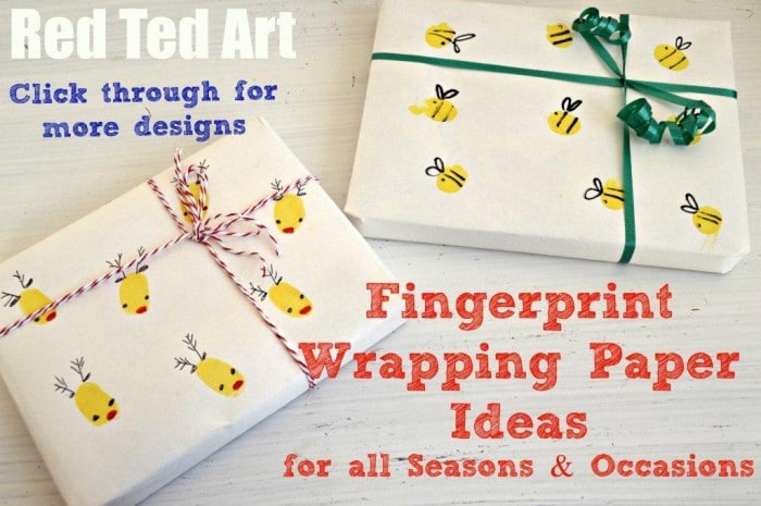 Fingerprint Wrapping Paper Ideas