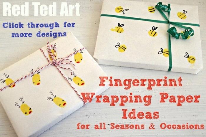Diy Wrapping Paper Fingerprint Ideas