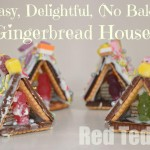 Gingerbread Houses, easy, delightful and no bake. Yay! via www.redtedart.com