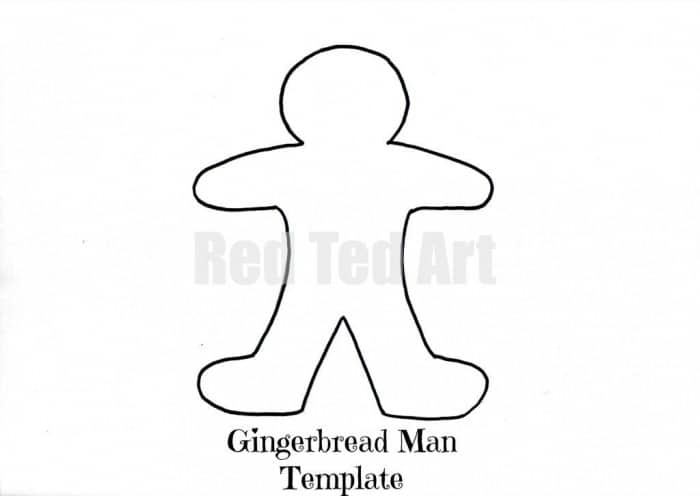 Gingerbread Man Template  Red Ted ArtS Blog
